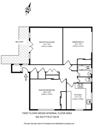 Large floorplan for Lindfield Gardens, Guildford, GU1