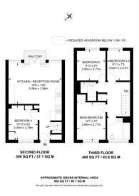 Large floorplan for Thornton Road, Balham, SW12