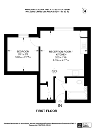 Large floorplan for St Cuthberts Road, West Hampstead, NW2