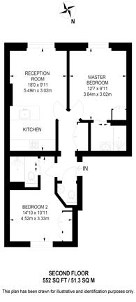 Large floorplan for Gloucester Road, South Kensington, SW7