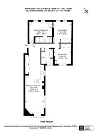 Large floorplan for Lawrence Street, Chelsea, SW3