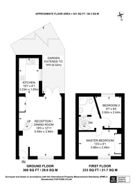 Large floorplan for Caradoc Street, Greenwich, SE10