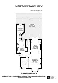 Large floorplan for Albert Bridge Road, Battersea Park, SW11
