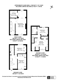 Large floorplan for Holbein Mews, Chelsea, SW1W