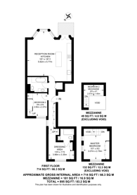 Large floorplan for Wetherby Place, South Kensington, SW7