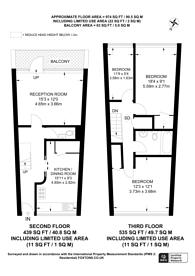 Large floorplan for Carey Gardens, Battersea, SW8
