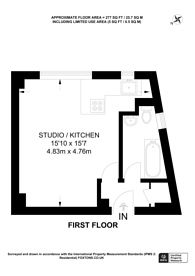 Large floorplan for Sloane Avenue Mansions, Sloane Avenue, Chelsea, SW3
