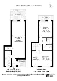 Large floorplan for Beechdene, Peckham, SE15