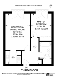 Large floorplan for Eastfields Avenue, Wandsworth Town, SW18