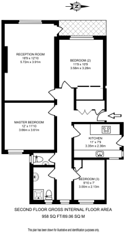 Large floorplan for Lancaster Terrace, Lancaster Gate, W2