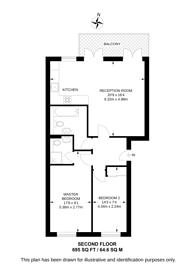Large floorplan for Kingsbridge Court, Isle Of Dogs, E14