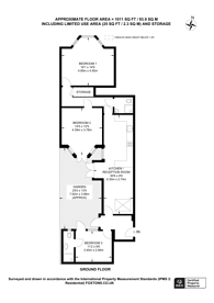 Large floorplan for Richborough Road, Cricklewood, NW2