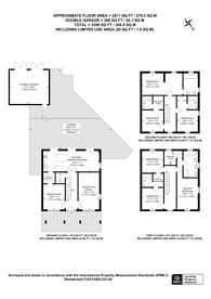 Large floorplan for Sherbrooke Way, Worcester Park, KT4
