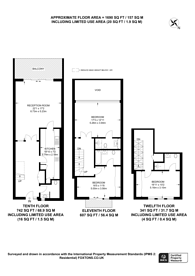 Large floorplan for Cromwell Road, Kensington, SW7