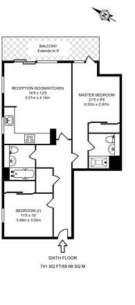 Large floorplan for Cable Street, Limehouse, E1W
