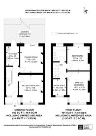 Large floorplan for Glenister Park Road, Streatham Vale, SW16