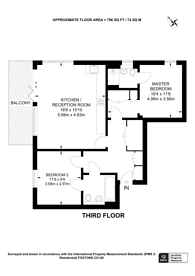 Large floorplan for Whiston Road, Shoreditch, E2