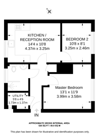 Large floorplan for Staveley Gardens, Grove Park, W4