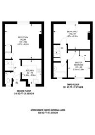 Large floorplan for Chanel Islands Estate, Canonbury, N1