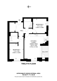 Large floorplan for Viewpoint, Battersea, SW11