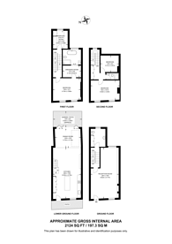 Large floorplan for Abingdon Road, Kensington, W8
