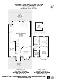 Large floorplan for Birchen Grove, Queensbury, NW9