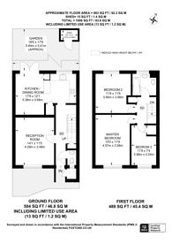 Large floorplan for Ericcson Close, Wandsworth, SW18