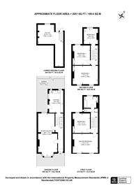Large floorplan for Reighton Road, Stoke Newington, E5