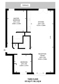 Large floorplan for Islington Green, Angel, N1