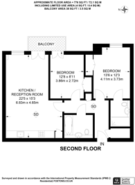 Large floorplan for Holford Way, Putney, SW15