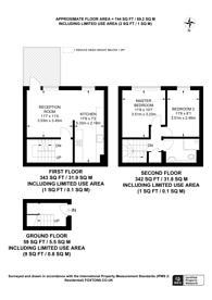 Large floorplan for Wivenhoe Close, Peckham, SE15