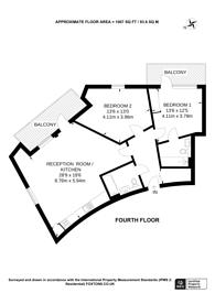 Large floorplan for Fishers Way, Wembley, HA0