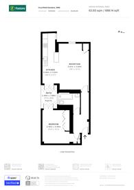 Large floorplan for Courtfield Gardens, South Kensington, SW5