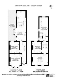 Large floorplan for Mellish Street, Canary Wharf, E14