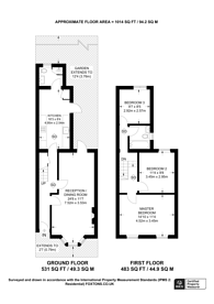 Large floorplan for Elswick Road, Lewisham, SE13