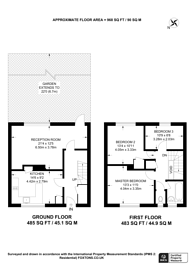 Large floorplan for Vibart Gardens, Brixton Hill, SW2