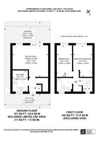 Large floorplan for Woodlawn Close, East Putney, SW15