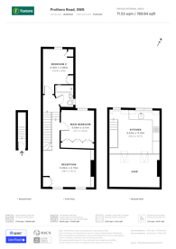 Large floorplan for Prothero Road, Fulham Broadway, SW6