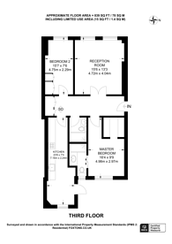 Large floorplan for Westbourne Terrace, Lancaster Gate, W2