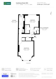 Large floorplan for Castletown Road, Barons Court, W14