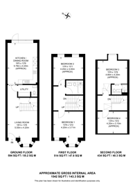 Large floorplan for Borough Road, Kingston, KT2