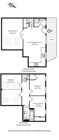 Large floorplan for Chapel Road, West Norwood, SE27