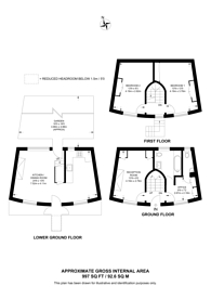 Large floorplan for Keystone Crescent, King's Cross, N1