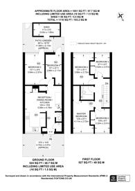 Large floorplan for Danebury Avenue, Roehampton, SW15