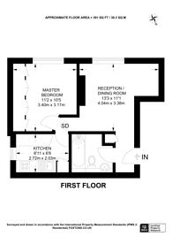 Large floorplan for Sunnyside,, Wimbledon Village, SW19
