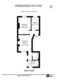 Large floorplan for Abingdon Villas, High Street Kensington, W8