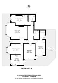 Large floorplan for Wadham Gardens, Primrose Hill, NW3