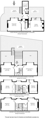 Large floorplan for Lee Terrace, Blackheath, SE3