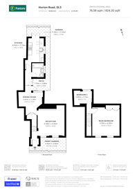 Large floorplan for Horton Road, Datchet, SL3