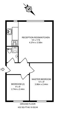 Large floorplan for Boswell Street, Bloomsbury, WC1N